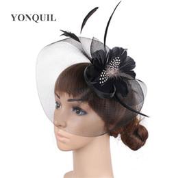 66df8d55224 New fashion Feather flower Fascinator Hat with black headband wedding  ladies day Hat headwear Weddings Evening Races Hair Accessory SYF448