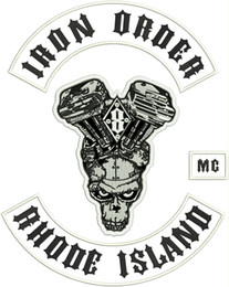 Wholesale Iron Order - NEW ARRIVAL COOL MC IRON ORDER RHODE ISLAND EMBROIDERY PATCH MOTORCYCLE CLUB VEST OUTLAW BIKER MC JACKET PUNK IRON ON PATCH FREE SHIPPING