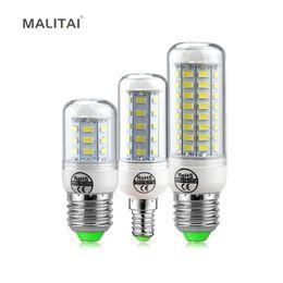 Wholesale Led Long Spotlights - 1Pcs Real Long Lifespan Health LED Corn lamp E27 E14 220V 24 -72 LEDs Spotlight bulb with SMART IC Driver Power light