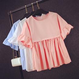 e5972a87bb90f6 Basic Shirt Frauen Kurzarm Damen Tops 2016 Sommer T-Shirts koreanischen  Stil Bluse Baumwolle neu plus Größe Blause basis baumwollbluse Outlet