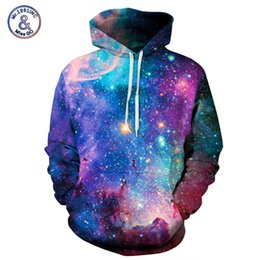 Pares galaxia sudaderas online-Mr.1991INC Marca Hoodies Hombre / Mujer Space Galaxy 3D Sudadera con capucha de impresión Sudaderas con tapa Otoño Parejas Hoody Tops moletom S18101703