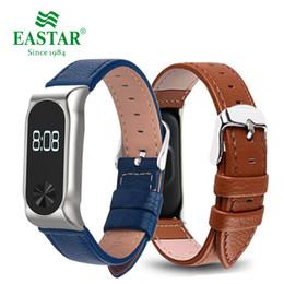 reemplazar reloj Rebajas Eastar cuero colorido elegante banda de reloj para XiaoMI Band 2 pulsera inoxidable Reemplace pulseras cuero correa para Mi 2