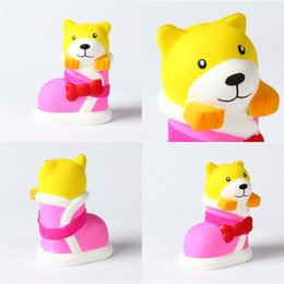 Wholesale Dog Squeeze Toys - Squishy Slow Rebound Rising Boots Jumbo Dog Decompression Children Kawaii Squeeze Squishies Early Childhood Toys PU 13 5wh V