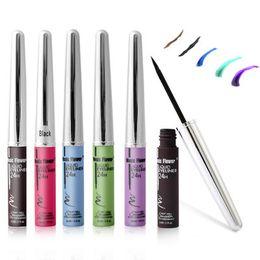 Wholesale Eyeliner Purple - New Makeup Eyeliner Purple Brown Liquid Eyeliner Beauty Makeup Eye Liner Pencil Comestics maquiagem
