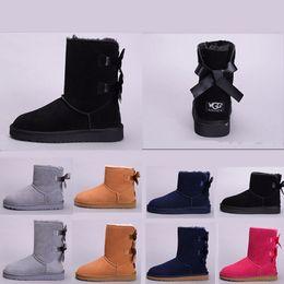58210227565975 damen schwarze schuhstiefel Rabatt UGG boots Luxuxentwerferfrauen  Australien-klassische halbe Knie-Stiefel Dame Mädchen