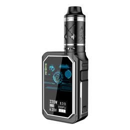 Wholesale electronic cigarette atomizer 4ml - 220w Electronic Cigarettes Starter Kits X24 Built-in 4600mAh TC Battery 4ml Quad Coils Atomizer Cheapest Vape Mods Ecig Kit