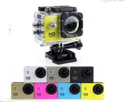 Medidor de dv online-Envío gratis DHL-2018 nuevo SJ4000 freestyle 2 pulgadas LCD 1080P cámara de acción completa 30 metros impermeable cámara DV deportes casco SJcam DVR00