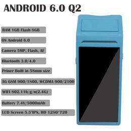 definição do cartão usb Desconto Q1 SystemTerminal PDA com Impressora Térmica Embutida e Opção NFC Barcode Scanner