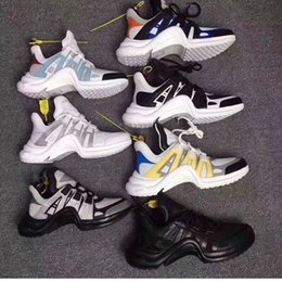 Wholesale medium sized star - 2018 fashion Designer Shoes Luxury archlight Mix 6 colors stars Show version Women and men retro sneakers size 36-44 With box receipt bags