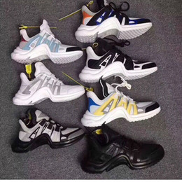Wholesale shows box - 2018 fashion Designer Shoes Luxury archlight Mix 6 colors stars Show version Women and men retro sneakers size 36-44 With box receipt bags