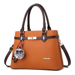 3efc466b0f 2018 Autumn New Lady Handbag European and American Style Bags Fashion Trend  Shoulder Bag Pendant Khaki Purple Big Bag on sale