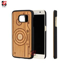 Wholesale Hard Plastic Carrying Cases - Carry case 9 design wooden laser engrave cell phone covers for samsung galaxy s7 edge s7edge s8 s9 plus hard U&I cases cover
