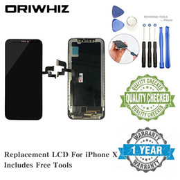 grading panel Promo Codes - Grade AAA Real Picture Replacement Screen for iPhone X LCD Digitizer Assembly Touch Screen Stock Available Black