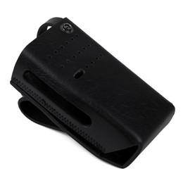 Casos de walkie talkie on-line-Walkie talkie case de couro do couro luva protetora carry coldre bolsa de ombro case para motorola rádio xir p6600 rádio em dois sentidos