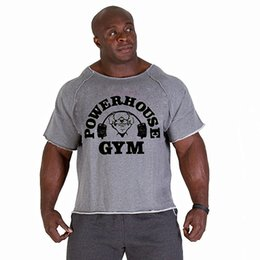Nuove camicie da uomo, Golds NPC Powerhouse Gorilla Wear Fitness Bodybuilding Workout Clothes T-shirt di cotone elastico in spugna da usura allenamento bodybuilding fornitori