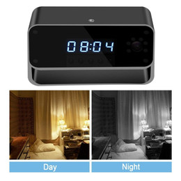 realtime camera Promo Codes - New Mini Wifi Clock Camera HD 1080P WiFi Network Camera Wireless Night Vision Camera Motion Activated Cam Realtime Monitoring By iOS Android