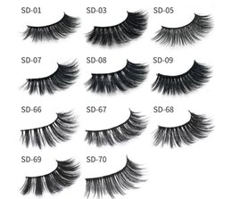 Wholesale Feathered False Eyelashes - 11 styles Selling 1pair lot 100% Real Siberian 3D Mink Full Strip False Eyelash Long Individual Eyelashes Mink Lashes Extension