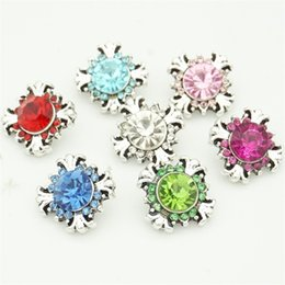 Wholesale diy jewelry crystal 12mm - Fashion 12mm Crystal Cross Snap Buttons Metal Snap Button Charms for DIY Bracelet Earrings Jewelry Findings