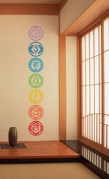 Wholesale Wall Decals Circles - Vinilos Paredes Colorful Circle Religion Wall Decals Home Decor India For Buddha Ganesh Om Yoga Namaste Buddhism God Stickers
