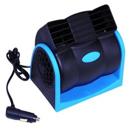 Wholesale Fan Cables - Creative Car Vehicle Truck Cooling Air Fan 12V Adjustable Silent Cooler Speed with Car Chagrer Plug Cable Free Shipping
