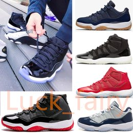 Wholesale Chocolates Boxes - Space Jam 11s bred win like 96 unc man and woman With Box basketball 11 shoes sneakers shoes 378037 002 528895-007