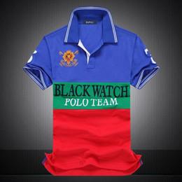 Wholesale Watches Polo - discounted PoloShirt men Short Sleeve T shirt Brand polo shirt men Dropship Cheap Best Quality black watch polo team #1419 Free Shipping
