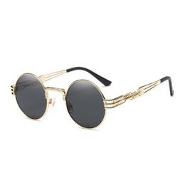 occhiali da sole rotondi steampunk Sconti Vidano Occhiali da sole rotondi in metallo Occhiali da sole Steampunk Uomo Donna Occhiali da vista Occhiali da sole vintage design retrò Occhiali da sole UV400 Spedizione gratuita