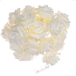2019 luces solares rosa 20LED 40LED Rose Light 8 colores Funciona con batería o con energía solar LED Luces festivas Fija Flash Fairy String Light Party Home Xmas Wedding Decor rebajas luces solares rosa