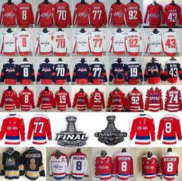 2018 Stanley Cup Final Champion Hockey Washington Capitals Alexander Alex  Ovechkin Jersey Tom Wilson Braden Holtby TJ Oshie Evgeny Kuznetsov 47923664941d