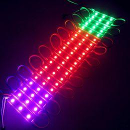 Rgb led modulos para letras de canal online-RGB Led Pixel Modules Waterproof 12V SMD 5050 3 Leds 0.72W 80lm Módulos Led Signo Retroiluminación Led para Letras de Canal ..