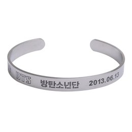 Back To Search Resultsjewelry & Accessories Chain & Link Bracelets Fashion Style Kpop Bts Bangtan Boys Army V Name Letter Stainless Steel Bracelet Bangle Adjustable Bracelets For Jewelry Party Gifts Superior Materials