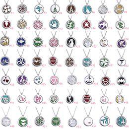 Encantos de aceites esenciales online-56 Estilos Perfume Magnético Aromaterapia Aceite Esencial Difusor Colgante Locket Collar Multi Encantos Joyería DIY con 1 pad