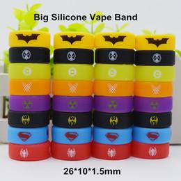 Anéis de beleza de vapor on-line-Superman Batman Hulk Superhero Silicone Vape Band Silicone Beleza Anel decorativo para TFV8 Big Baby TFV12 Prince Tanques de vidro 26 * 10 * 1.5mm