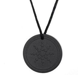 Wholesale Quantum Scalar Energy Necklace - Quantum Pendant Necklace Scalar Energy Pendant with Negative Ion Energy Natural Stone Pendant Black Lava Stone Jewelry Negative