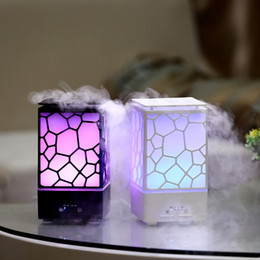 Wholesale Electric Aroma Lamps - New Arrival High Quality 200ML Water Cube Ultrasonice Diffuser Aroma Lamp Mist Maker Electric Aroma Air Humidifier Essential Oil Diffuser