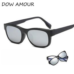 6b616e807bf 2017 Plastic Titanium Polarized Sunglasses Glasses Frame With Magnetic  Polarized Sunglasses TR Clip Myopia Driving Glasses