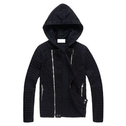 Wholesale Black Windbreak - Luxury Designer Black Denim bomber jacket Mens Slim Fit Zippers Short Biker Jackets Fashion Jeans Coats Brand Clothing kanye west windbreak