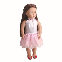 Wholesale Pink Doll Dresses - Wholesale Cute American Girl Toy Doll High Quality Soft Dress Pink Princess Doll Party Dress Factory Direct Sales