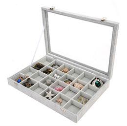 2019 joyeros para anillos Cachemira floral de hielo transparente Cubierta de la correa Caja de presentación de la joyería Anillo Pendiente Collares Maletín de maquillaje Caja de joyería 26 5yc gg joyeros para anillos baratos