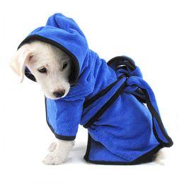 cuscini cucciolo Sconti Asciugamano in microfibra Dog Cat Bath Robe Asciugatura rapida per animali Grooming Blanket Cloth XH8Z