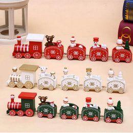 Рождественское Украшение Дерево Поезд Пять Разделов С Санта-Медведь Новый Год Рождественский Орнамент Дети Мальчик Рождественские Подарочные Игрушки от