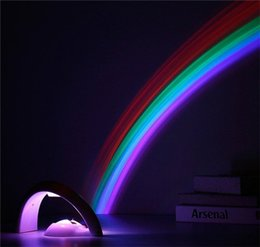 Wholesale Bedroom Projector Lights - Amazing Colorful LED Rainbow Light Baby Kids Children Child Night Light Romantic Christmas Projector Lamp for Sleeping Bedroom