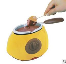 Beurre fait en Ligne-220V Chocolatiere Bricolage Faire Du Chocolat Pour Amant Cuisine Pot Beurre À Beurre Ensemble Électrique Cuisine Désert Outil