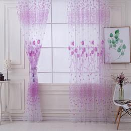 Hot Petit lotus rideau salon balcon chambre porte fenêtre Rideau Valances Home Decor pour le salon ? partir de fabricateur