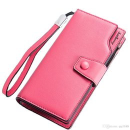 Wholesale Design For Ladies Leather Bags - Women's Wallets Casual Purse Clutch Brand Female Leather Long Fold Wallet Design Women Phone Zipper Bag Gift For Lady HQB2030