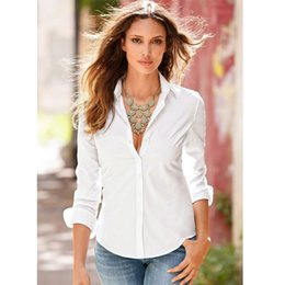 Wholesale long slimming blouses - New Fashion Women Blouse Long Sleeve Office Shirt Casual Tops Women's Polos Shirt Blusa