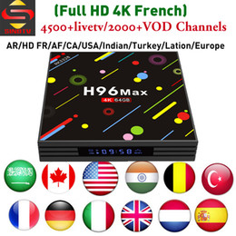 Wholesale core accounts - Bulgaria IPTV Box H96 MAX H2 4GB 64GB with one year Arabic Europe account for France Sweden Spain Canada Turkish Channels