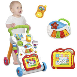 2019 erster stand Babywanderer, sitzender Stand, gehender Assistent, erste Schritte Auto, Kleinkind-Laufkatze mit frühem lernendem pädagogischem Musical günstig erster stand