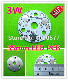diy pcb led Rebajas Placa base de aluminio de 3W LED de 35 mm de diámetro, PCB de alta potencia de 3W, PCB LV8098 para DIY una lámpara LED