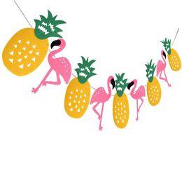 2019 caja de metal android tv Arreglo Decoración Tropical Rain Forest Serie Flamingo Flamingo Hoja Banderas de colores Jardín de infantes Field Decoración del hogar Hair Felt 5 8sd V